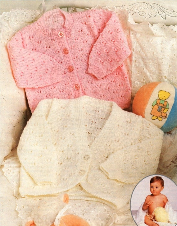 Knitting Pattern Baby Cardigan 4 Ply : Baby Knitting Pattern Baby Bolero Baby Cardigan V Neck Bolero