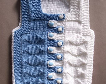 Baby Hand Knit Waistcoat. Kids Sweaters. Kids Waistcoat and Sweaters. Baby  Gift ideas