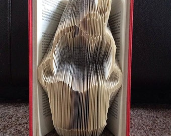 """Book folding pattern for a """"Cupcake""""  ~ Cuppy cake ~ cake"""