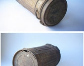 Vintage WW2 German Gas Mask Container/ Rare WWII Canister / Antique War Gear/ 1930's