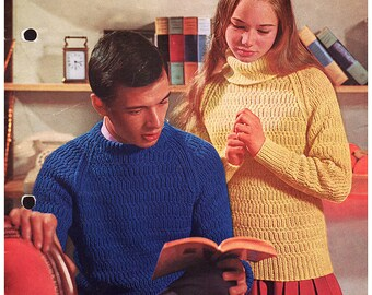 Teenage Sweaters Knitting Pattern - Shepherd Yarns 114