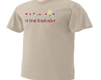 Number One GREAT Grandmother Cute GREAT Grandma Family T-Shirt