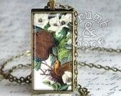 Mourning Dove Bird Necklace, Zenaida macroura, Audubon Birds of America, Bird Watcher Gifts, Bird Keychain, Keychains for Women, Bird Gifts