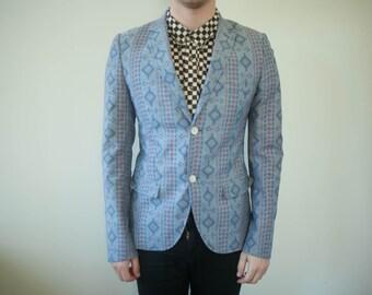 38 Aztec Ikat Tailored High Street Mod Suit Blazer