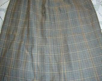Vintage 1960, pleated skirt woman, size EU 42