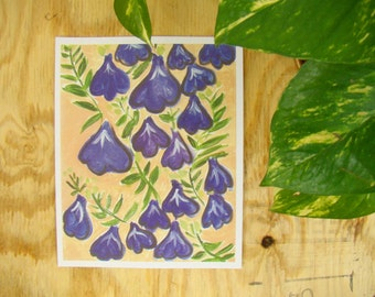 Purple Trailing Flowers