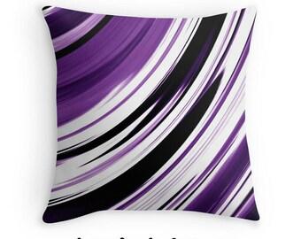 Purple Pillow, Decorative Pillow, Abstract Pillow, Throw Pillow