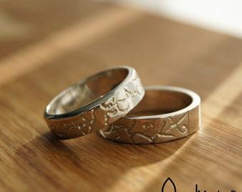 wedding rings - friendship rings - elegantly - pattern - band ring