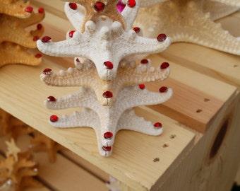 Starfish Christmas Tree Decoration, Rhinestone Starfish Christmas Tree, Starfish Beach Christmas Tree, Table Top Christmas Tree