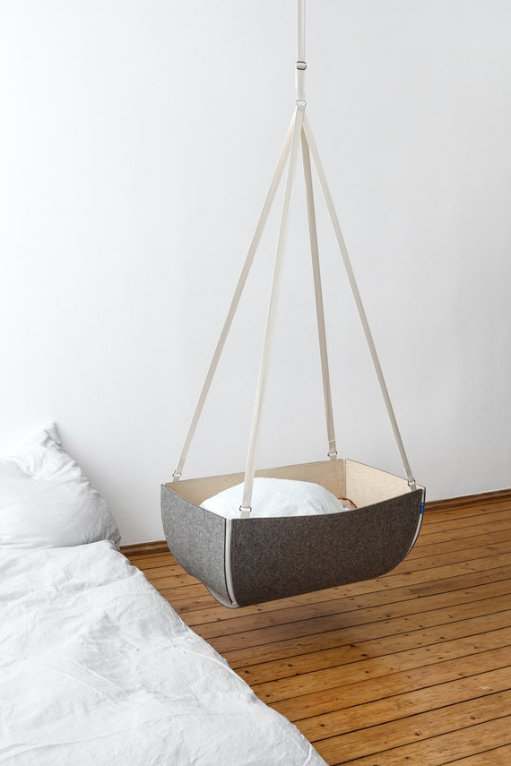 Items similar to baby cot cradle made of flexible birch - Babywiege modern ...