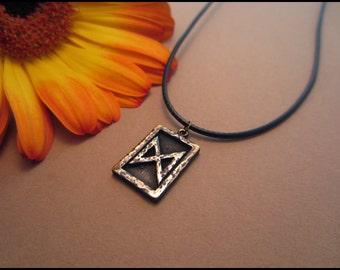 Viking Dagaz Rune - Daylight - Viking Norse Jewelry Necklace Pendant