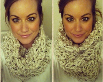Extra Chunky Knit Cowl Neck Infinity Scarf choose your color // Snood  // Cowl Scarf // Infinity Scarf (handmade)