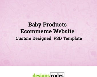 eCommerce Website Template, PSD Template, PSD Templates, Web Designer, Web Developer, Website Design, Baby Products eCommerce Website
