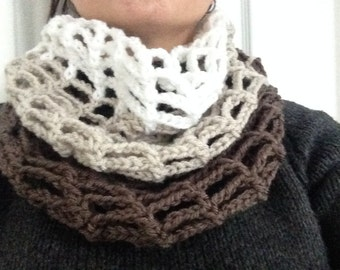 Ombre Crochet Cowl Scarf