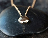 Pyrite Necklace, Faceted Gemstone Necklace, Fool's Gold Necklace, Sparkly Necklace, Metallic Gemstone, 14k Gold Filled, Layering Jewelry