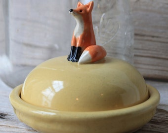 Custom-Made Fox Mini Cheese Dish - 4 to 6 Weeks for Delivery