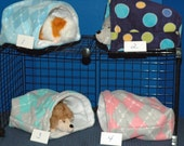 Guinea Pig Snuggle Huts 9x9, 12x12 or XL 14x14, FREEstanding opening snuggle bag,with or W/O waterproof pads .small animal sleep sack