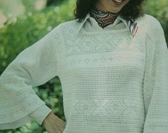 Knitting Patterns Sweater Crochet Lace Patterns to Knit and Crochet Leisure Arts 124 Women Vintage Paper Original NOT a PDF