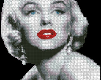 MARILYN MONROE  cross stitch pattern No.121