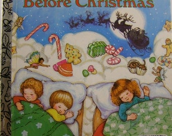 The Night Before Christmas, vintage Little Golden Book