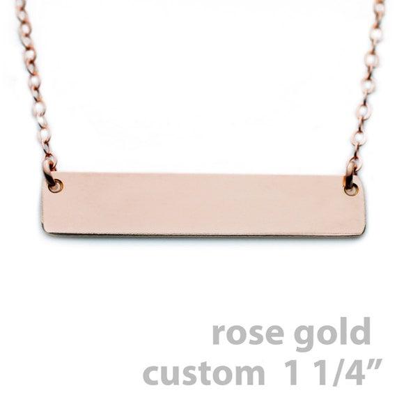custom nameplate necklace rose gold name plate necklace 1. Black Bedroom Furniture Sets. Home Design Ideas