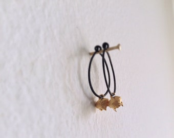 Organic earrings -Eucalyptus pod hoop earrings-Woodland  jewelry- Nature inspired hoop earrings-Gift for her