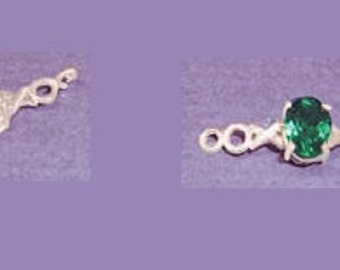Sterling Silver ~ 7x5mm 8x6mm or 10x8mm Oval Shape ~ X's & O's design ~ Bracelet links settings / Mountings ~ to be ordered ~ #167855 ~ FDK