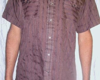 Vintage Panhandle Slim Brown Western Style Shirt L
