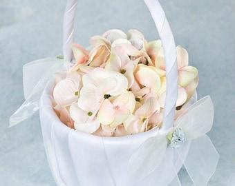 Hydrangea Bouquet Wedding Flowergirl Basket - 80725H