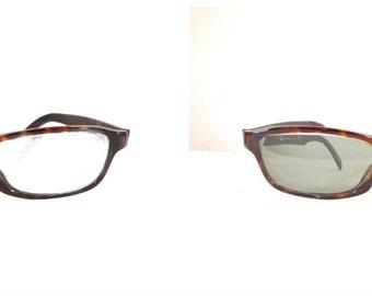 Ray-Ban Tortoise Shell Eyeglass or Sunglasses Frame, Prescription Quality Horn Rimmed Rectilinear Wayfarers 50mm Lens 20mm Bridge Sale
