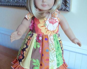"Juvie Moon Designs  RENEE Jumper Sundress PDF Pattern for 18"" Dolls"