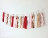 L-O-V-E Tassel Garland // Valentine's Day Decor // Red Pink Neutral Rose Gold // Party Decor // Confetti Systems