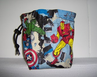Stand-up Dice Bag, Marvel Super Heros, Flat bottom, Card Bag, Dungeons and Dragons, RPG, polyhedral dice bag, Completed item, Ready-to-Ship