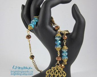 Cinnamon & Cyan Necklace; Cool Blues with a Bit of Spice