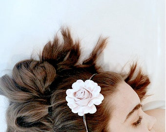 Pink Paper Petals Daisy Paper Mache Headband