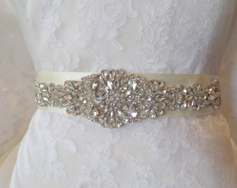 Bridal Belt Sash, Bridal Sash, Belt, Crystal Sash, Rhinestone Belt, Wedding Belt Sash, Crystal Wedding Belt,