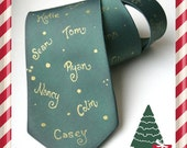 Personalized Tie . Customized Necktie .  Grandfather Gift . Gift Idea. Keepsake. Personalization