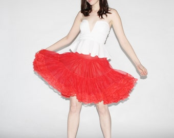 Vintage Red Crinoline  - Vintage Red Tutu  - The With a Cherry on Top Skirt  - 9038