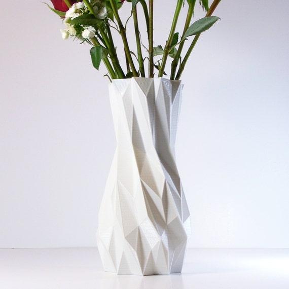 living room vases 3d printed white vases living room decor modern vase 10636