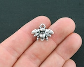 10 Bee Charms Antique Silver Tone - SC4334