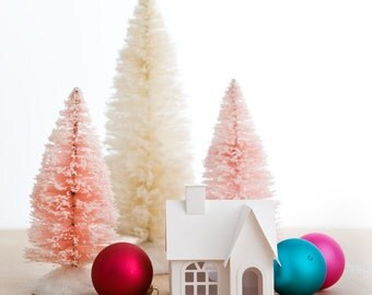 Putz House Ornament DIY Kit Victorian Glitter House Christmas Decoration Paper Craft Kit