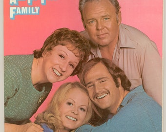 All in the Family Episodes from the Popular Television Show about Archie Bunker, Edith and the family, Vintage Vinyl Record  Atlantic LP
