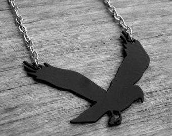 Raven Necklace Raven Jewelry Crow Necklace Crow Jewelry Black Bird Necklace Blackbird Gothic Goth Edgar Allan Poe