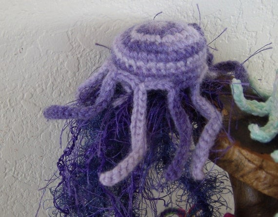 ... Jellyfish Amigurumi -Crochet Art Home Decor Jellyfish Plush- Crochet