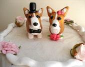 Corgi Cake Toppers Wedding Keepsake Cake Decoration Wedding Decor Wedding Cake Topper Anniversary Cake Topper Corgi Wedding Cake Topper