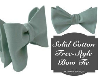Dusty Shale inspired Bow Tie, Free-style Bow Tie on adjustable Strap for Men, or Choose another Color, Made in the USA