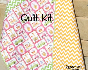 Baby quilt kit diy do it yourself project sadies dance last one baby quilt kit diy do it yourself project happi dena designs solutioingenieria