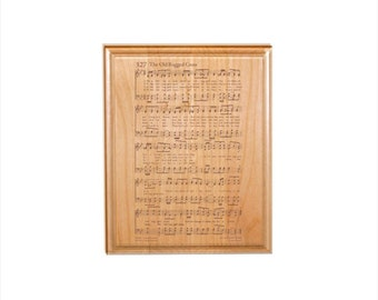Old Rugged Cross Hymn Plaque - Engraved Solid Alder Wood - Christian Gift - Religious Wall Decor