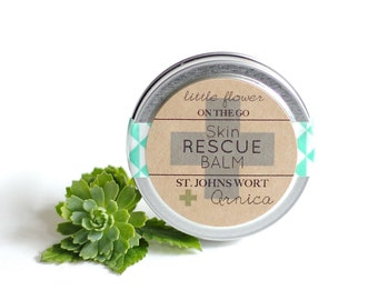 Skin Rescue Balm 1 ounce tin Natural bath and beauty bath and body solid lotion with shea butter cocoa butter aloe butter  arnica  vitamin E