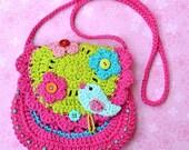 Birdie purse - crochet pattern, DIY